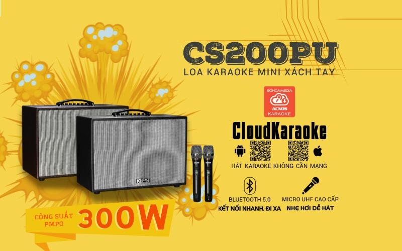 loa karaoke xách tay acnos cs200 pu hình 9