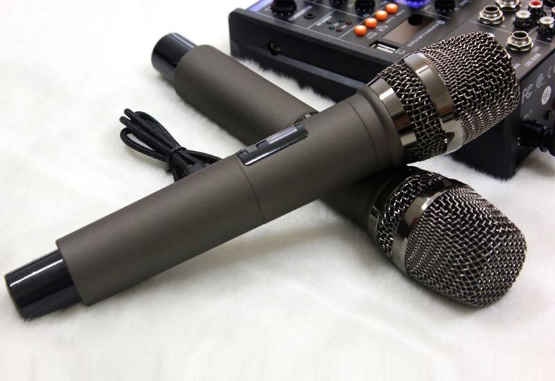 mixer g4 chỉnh âm thanh kết nối ra loa hình 8