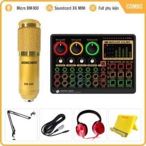 Combo Micro BM900 Kèm Soundcard X6mini Autotune – Cực Hay